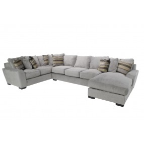 Oracle Right-Facing Sofa Chaise Sectional in Platinum