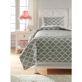 Media Lattice Twin Comforter Pack in Gray