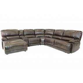 Azul Air 6-Piece Left-Facing Chaise Sectional in Brown