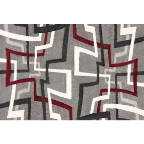 "Rome Gray and Red Rug - 10'6""W x 7'10"""