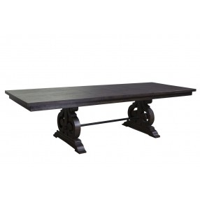 Stone Table in Charcoal