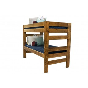 Young Pioneer Twin/Twin Bunk Bed in Brown
