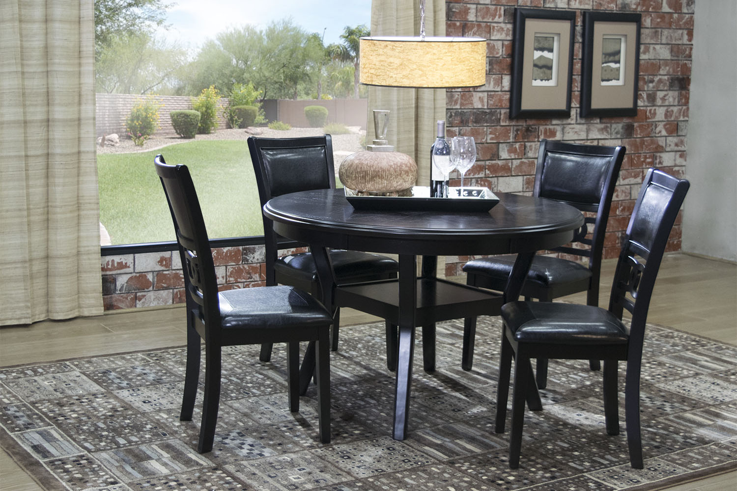 Most Popular Dining Room Tables. 513004772   Gia Round Table With 4 Chairs  In Dark Brown