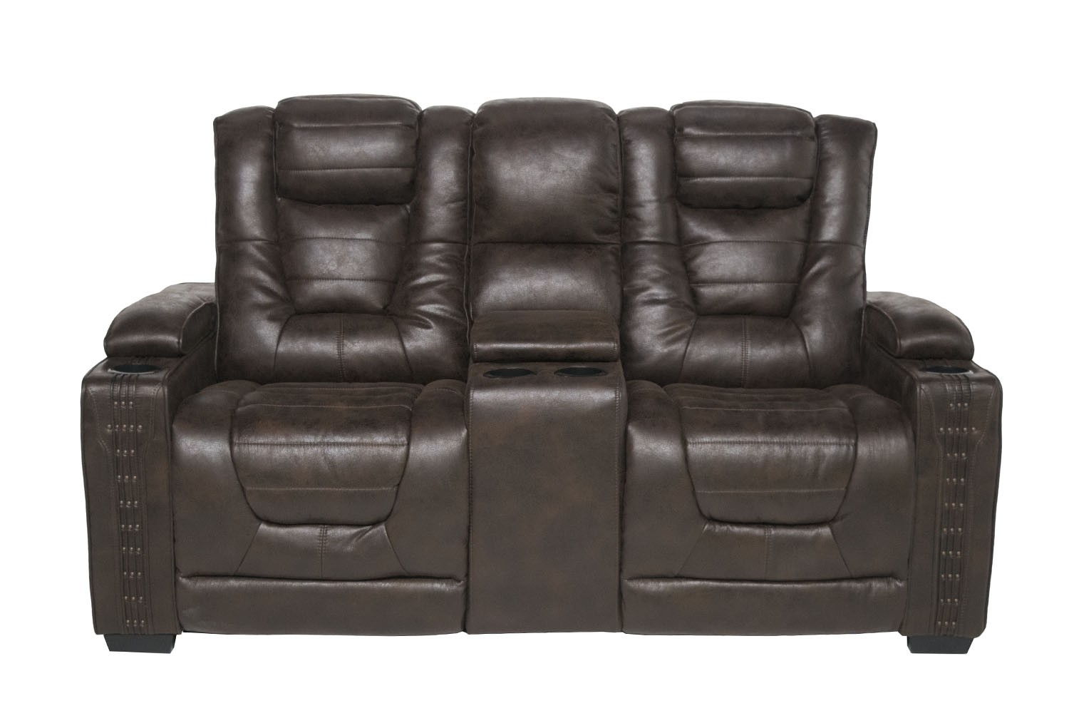 Remarkable Guitar 2 Power Fabric Loveseat In Brown Mor Furniture Uwap Interior Chair Design Uwaporg