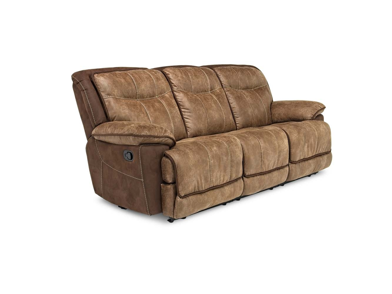 Stupendous Bubba Triple Reclining Sofa In Brown Mor Furniture Pabps2019 Chair Design Images Pabps2019Com