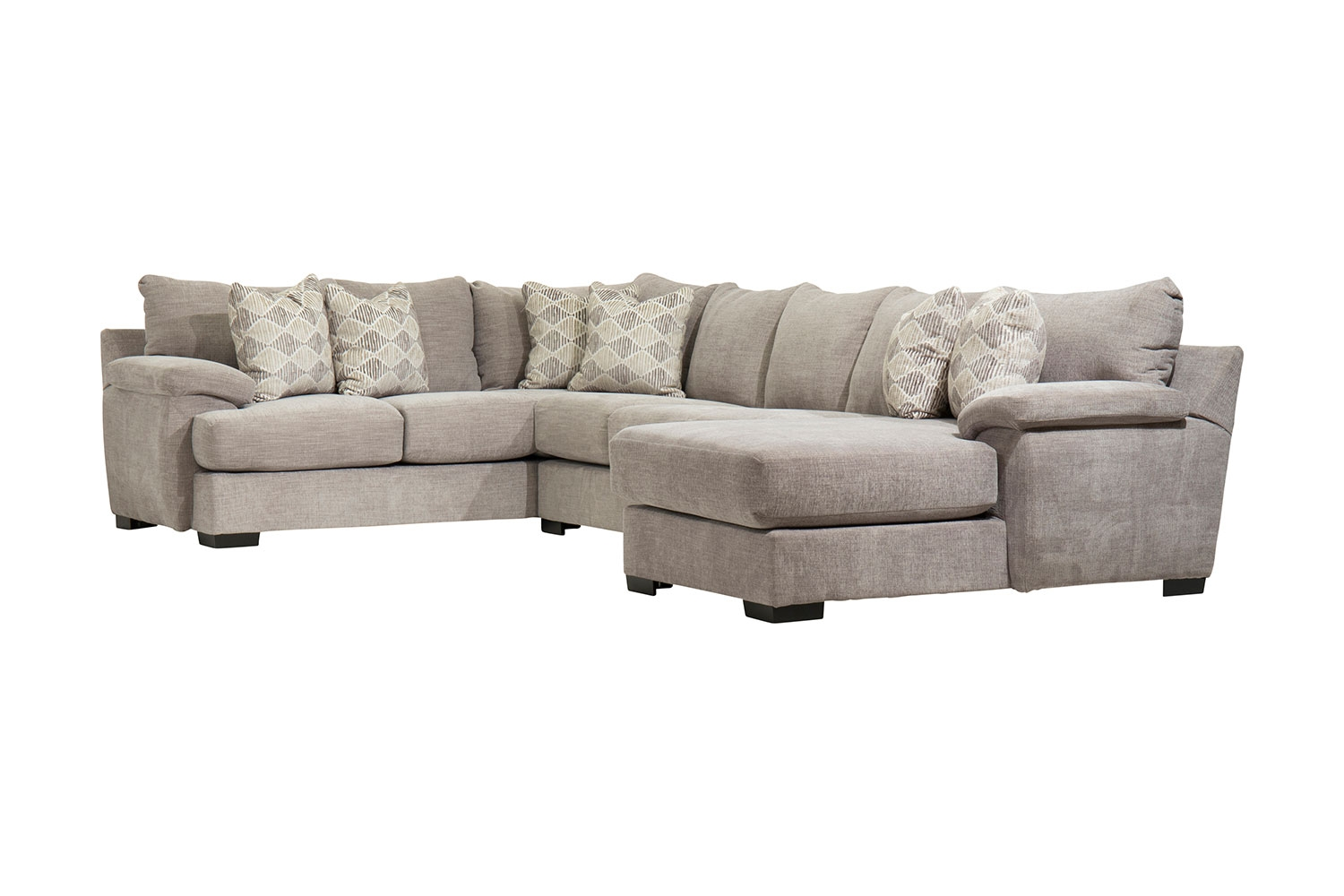 Peachy Bermuda Right Facing Sofa Chaise Sectional In Smoke Mor Pabps2019 Chair Design Images Pabps2019Com